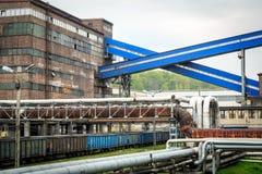 Infraestructura en la región de Silesia, Polonia de la explotación minera Imagen de archivo libre de regalías