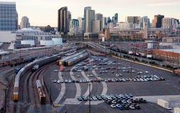 Infraestructura industrial céntrica de la ciudad de San Diego Imagenes de archivo