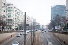 Infraestructura viaria de Bucarest Foto de archivo