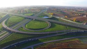 Infraestrutura de estrada, saídas, vista aérea vídeos de arquivo