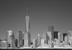 Infraröd bild av Lower Manhattan från Liberty Park Fotografering för Bildbyråer