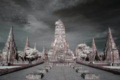 Infraröda Wat Chai Wattanaram Royaltyfria Bilder