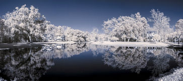 Infrared 180 degree panorama Stock Images