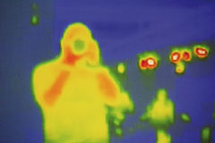 Infrared. The photographer is filmed by the infrared camera Royalty Free Stock Photos