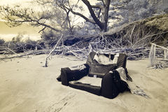 Infrared shot of flood damage Royalty Free Stock Photography