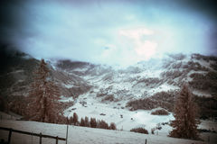 Infrared Alpine Landscape Royalty Free Stock Images