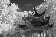 Infrared Asian styled Gazebo Stock Photos