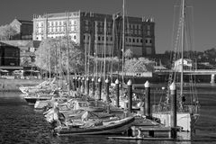 Infrared Ave river mouth marina Stock Images