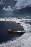 Infrared boat Royalty Free Stock Photos