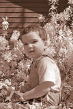 Infrared Boy Toddler Stock Photo