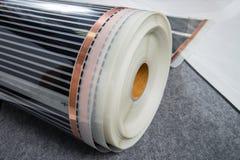 Infrared carbon film reel fiber, material for modern heat floor.  stock images
