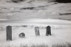 Infrared Cemetery royalty free stock photo