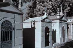 Infrared cemetery chapel Stock Images