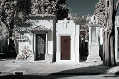 Infrared cemetery Stock Photos