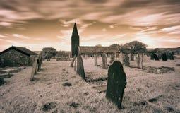 Infrared Churchyard Royalty Free Stock Photos