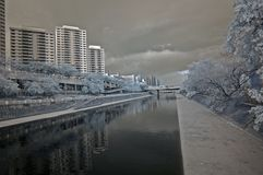 Infrared city Stock Photo
