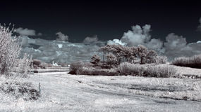 Infrared country landscape Royalty Free Stock Image