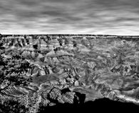 Infrared Czarny i biały Uroczysty jar Arizona Fotografia Stock