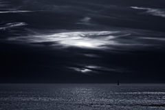 Infrared dark seascape Royalty Free Stock Images