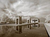 Infrared del tempiale di Debod fotografia stock