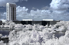 Infrared Downtown Orlando Stock Photo