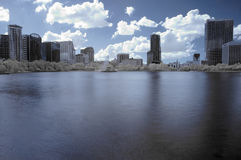 Infrared Downtown Orlando Royalty Free Stock Photo