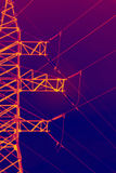 Infrared electric pylon Royalty Free Stock Photos