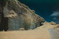 Infrared fotografia otoczenia losu angeles Batida jama 6 Fotografia Stock