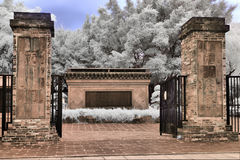 Infrared - Garden entrance Royalty Free Stock Image