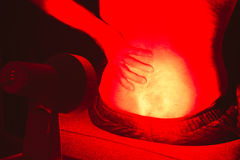 Infrared heat light therapy Royalty Free Stock Photography
