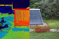 Infrared i istny wizerunek ilustracja wektor