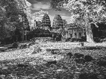 Infrared image of Angkor Wat - The bliss of Khmer architecture Stock Photo