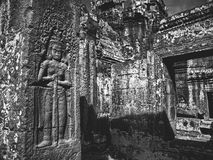 Infrared image of Angkor Wat - The bliss of Khmer architecture Stock Photos