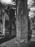 Infrared image of Angkor Wat - The bliss of Khmer architecture Royalty Free Stock Photo