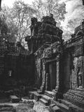 Infrared image of Angkor Wat - The bliss of Khmer architecture Royalty Free Stock Images