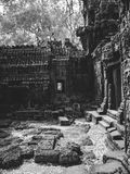 Infrared image of Angkor Wat - The bliss of Khmer architecture Stock Image