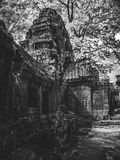 Infrared image of Angkor Wat - The bliss of Khmer architecture Stock Images