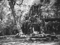 Infrared image of Angkor Wat - The bliss of Khmer architecture Royalty Free Stock Photos