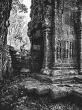 Infrared image of Angkor Wat - The bliss of Khmer architecture Stock Photography