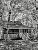 Cabin. An infrared image of a cabin used for people on vacation in a Florida park Royalty Free Stock Photo