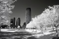 Infrared image of the Liberty Park in NJ Royalty Free Stock Photography