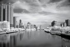 Infrared Image of the Love River Stock Image