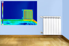Infrared image of Radiator Stock Photography