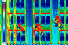 Infrared image window washers Stock Photos