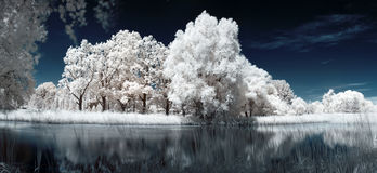 Infrared lake Stock Images