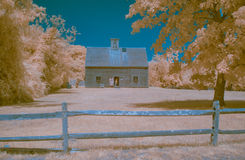 Infrared landscape Nantucket's oldest house. Stock Images