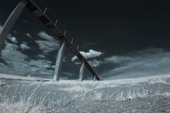 Infrared landscape with shadows Royalty Free Stock Photography