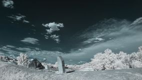 Infrared landscape with shadows Stock Photo