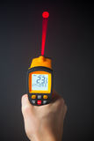 Infrared laser thermometer Stock Photos