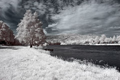 Infrared Lima river Royalty Free Stock Images